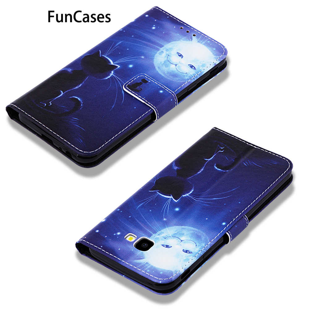 Belakang Kasus untuk Estuche Samsung J6 Plus Fox PU Kulit Flip Tas Telepon Samsung Galaxy Telefon J6 Premium J6 + j4 Plus 2018 Sumsum