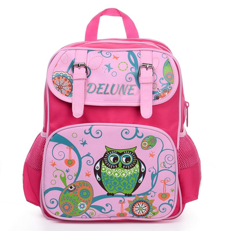 Delune kids child cartoon backpacks school backpack children supplies bags  for girls kids backpack girls Delune Brand Bags Grade 1aabf0781b8e1