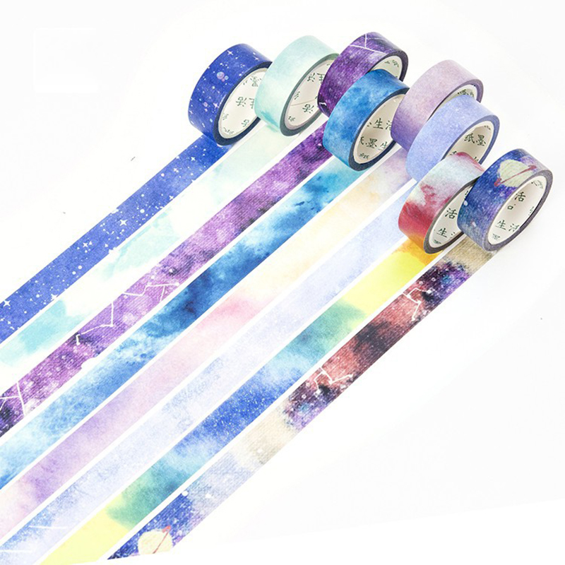 15mm Dreamy Sky Stars Masking Washi Tape Creative Diy Bullet Journal Decorative Adhesive Sticker Tape Scrapbooking Stationery