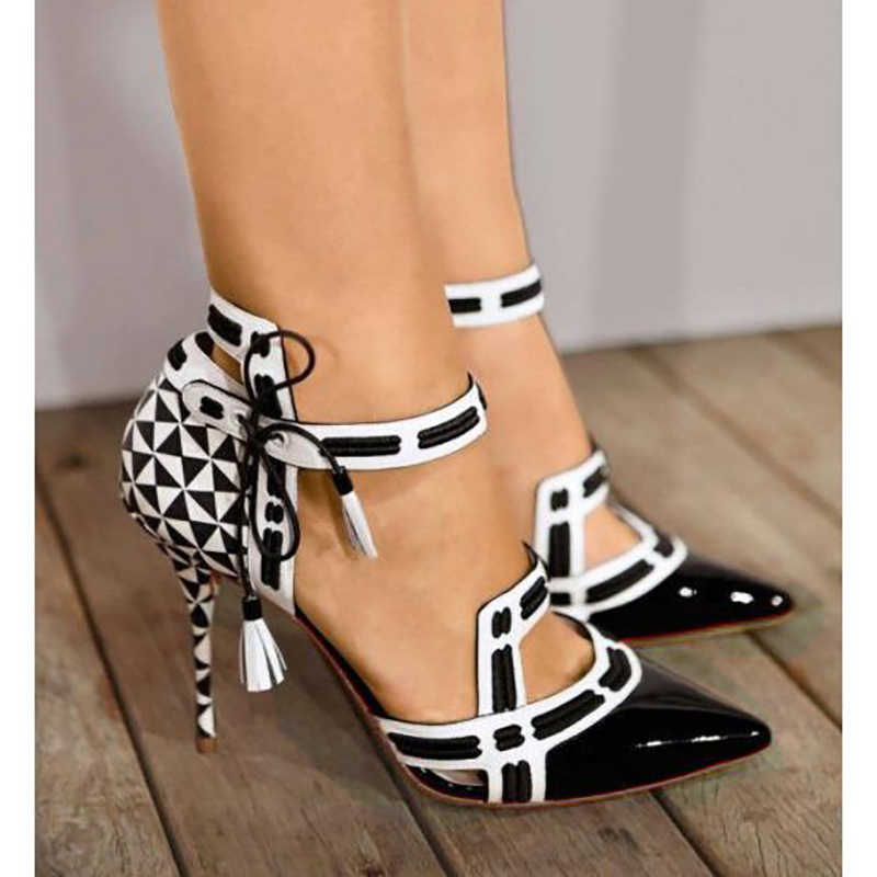 10c372f6be New women stiletto pumps pointed toe high heels sexy woman fashion black  bridal wedding shoes ankle