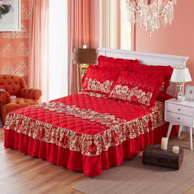 Humoristisch 160x200 Cm Bedskirt Gewatteerde Katoen Bed Rok Beddengoed Set Twin Queen King Size Bed Spread Bed Cover Set Matrashoes Couvre Lit Om Een Ongewoon Uiterlijk Zeker Te Stellen