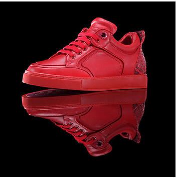 cd4cc60111c Famous brand royaums women flats shoes snake men sneakers cowhide ...