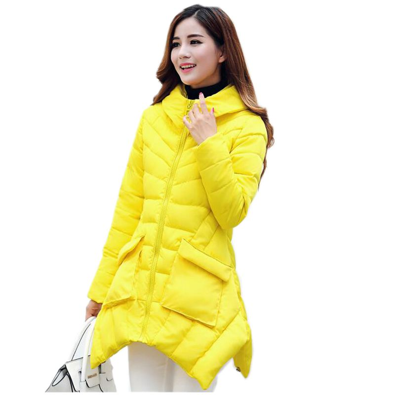 Latest Winter Fashion Women Down jacket  Hooded Thickening Super warm Coat Pure color Medium long Slim Big yards Coat SJ1118 цены онлайн