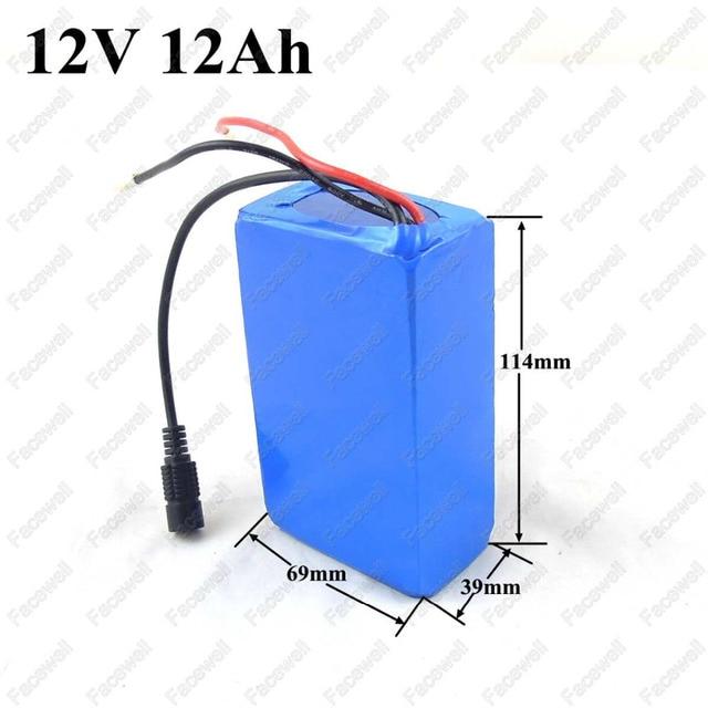 Buy 1p lithium 12v 12ah lithium battery for Porta batteria 9v
