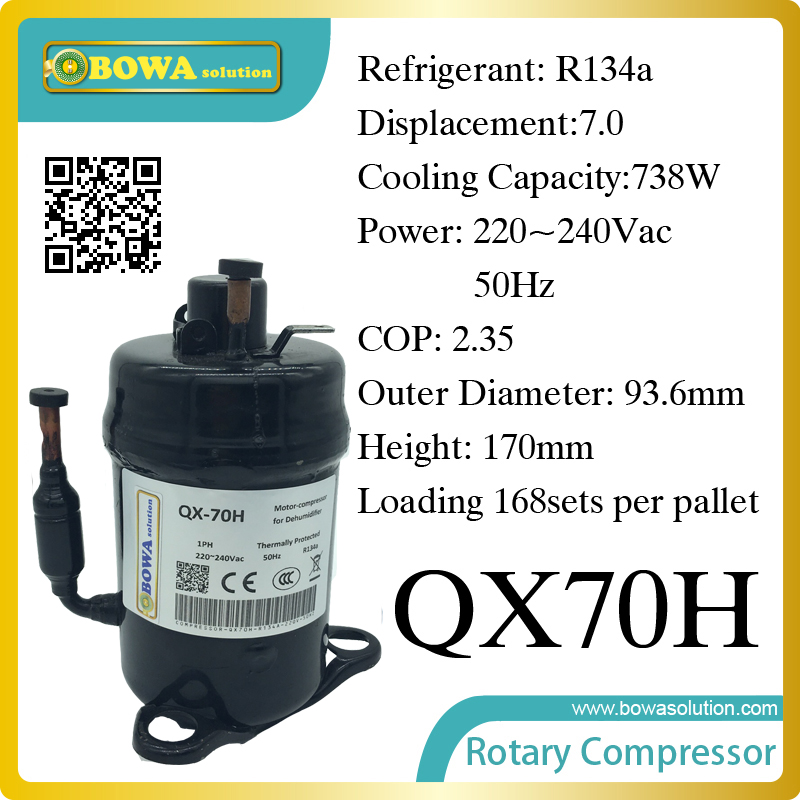 738W Cooling capacity refrigeration compressor (R134a) suitable for bottle cooler and beverage chiller 690w cooling capacity coolant compressor r134a suitable for single door commerce stainless steel display and freezer