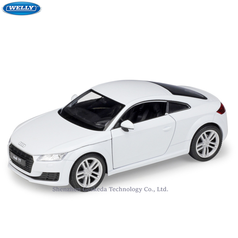 WELLY 1:24 Audi 2014 Audi TT Coupe Simulation Alloy Car Model Crafts Decoration Collection Toy Tools Gift