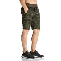 Mens Summer Fitness Camouflage 3D Shorts Fashion Casual Calf Length Sweatpants Male Joggers Workout Cotton Brand
