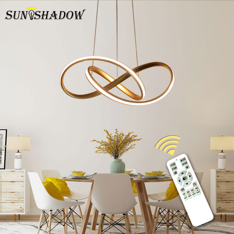 Gold&White Modern LED Pendant Light For Living room ...