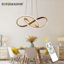 Золотой и белый современный светодиодный подвесной светильник для гостиной спальни столовой подвесной светильник светодиодный подвесной светильник Внутреннее освещение Luminares