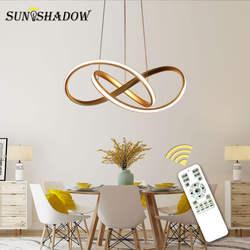 Золотой и белый современный светодиодный подвесной светильник для гостиной спальни столовой подвесной светильник светодиодный подвесной