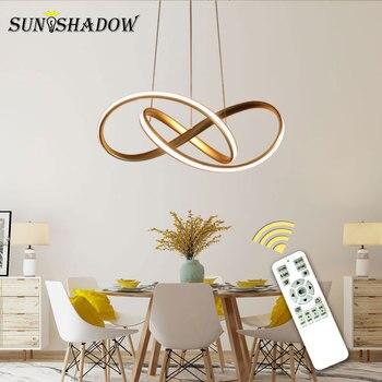 Goud & Wit & Zwart Moderne LED Hanglamp Voor woonkamer Slaapkamer Eetkamer Opknoping Lamp LED Hanglamp thuis Licht Luminares