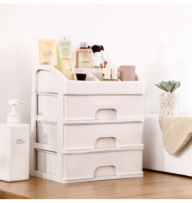 Plastic Cosmetic Storage Box to Organize Makeup with Drawers for Dressing Table of Women 13