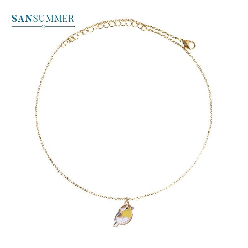 Sansummer/Новинка 2019 года; Модный милый кулон для животного; волшебник птиц из унций; личное ожерелье для девочек; женские украшения; 256