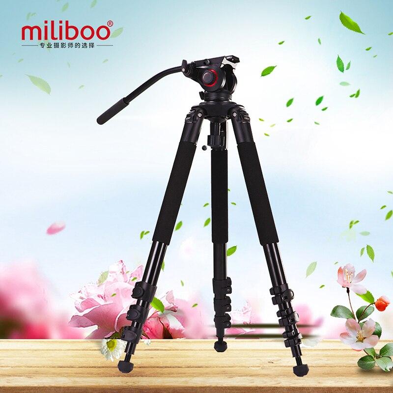 miliboo MTT702A Tripod New Portable 25KG capacity  aluminium monopod stand professional camera tripods for camcorder dslr