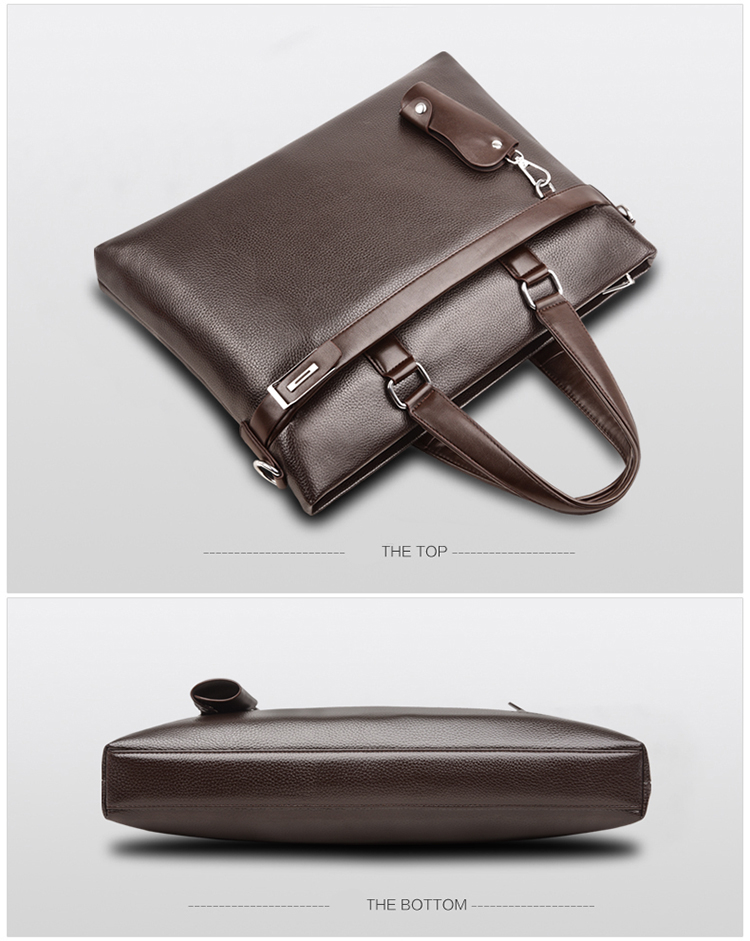 HTB1ZwhGqwKTBuNkSne1q6yJoXXak Promotions 2019 New Fashion Bag Men Briefcase PU Leather Men Bags Business Brand Male Briefcases Handbags Wholesale High Quality