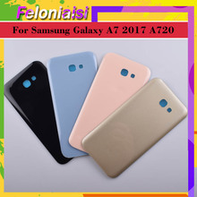 10Pcs/lot For Samsung Galaxy A7 2017 A720 A720F SM-A720F Housing Battery Door Rear Back Glass Cover Case Chassis Shell Replaceme samsung galaxy a7 2017 sm a720f ds blue