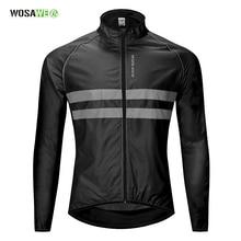 Светоотражающая куртка для велоспорта, одежда для ночной езды, безопасный жилет для бега и велоспорта для мужчин и женщин, ветронепроницаемая дождевик для горного велосипеда, ветровка