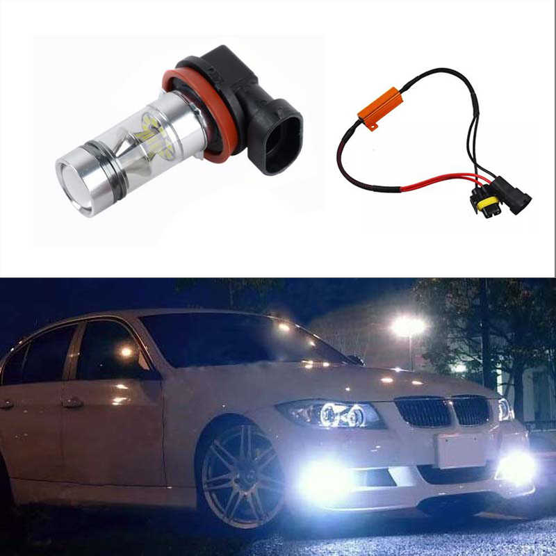 BOAOSI 1x H8 H11 LED Bulbs For Fog Lights No Error For BMW 3/5-Series 328i 335i E39 525 530 535 E46 E61 E90 E92 E93 F10 X3 F25