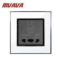 цена на MVAVA bathroom Shaver plug 110 & 240v shaving socket , Dual Voltage Wall Shave Socket ,Luxury Decorative mirror white panel