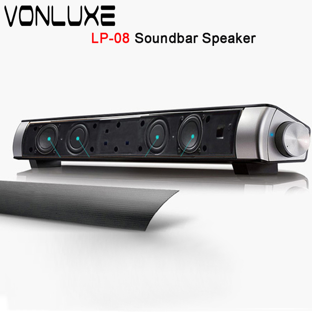 Sound Bar Wireless Bluetooth Speaker Soundbar Lp 08 Hifi Box Subwoofer Boombox Stereo