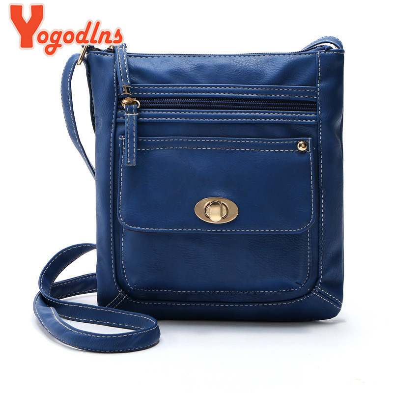 2017 Hot Item Women Handbag PU Leather messenger bag Splice grafting Vintage lady Shoulder Crossbody Bags bolsas femininas Bolsa