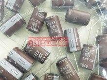 30 ШТ. NIPPON 100V470UF 16X25 электролитические конденсаторы LXV браун 105 градусов низкое сопротивление бесплатная доставка