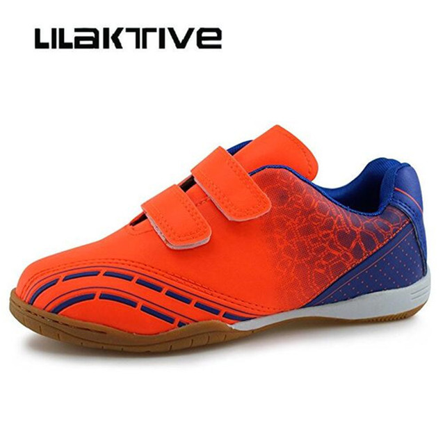 Professional kids soccers shoes boys outdoor breathable sneakers Original boy Hook & Loop football shoes kid athletics shoes