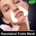 5 pack pliegues nasolabiales Anti envejecimiento Anti arrugas cara máscara Facial de la etiqueta engomada de proteína de suero acné belleza cuidado de la piel envío gratis