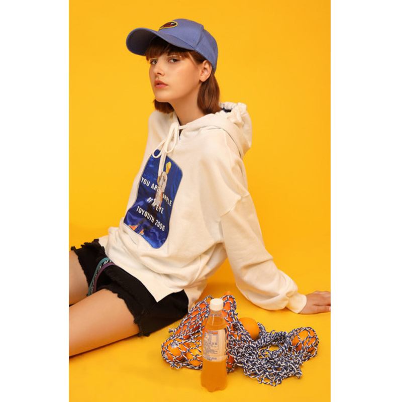 Toyouth 2019 Women Spring Sweatshirt Casual Loose Long Sleeve Hoodies New Arrival Female Letter Patch Fashion