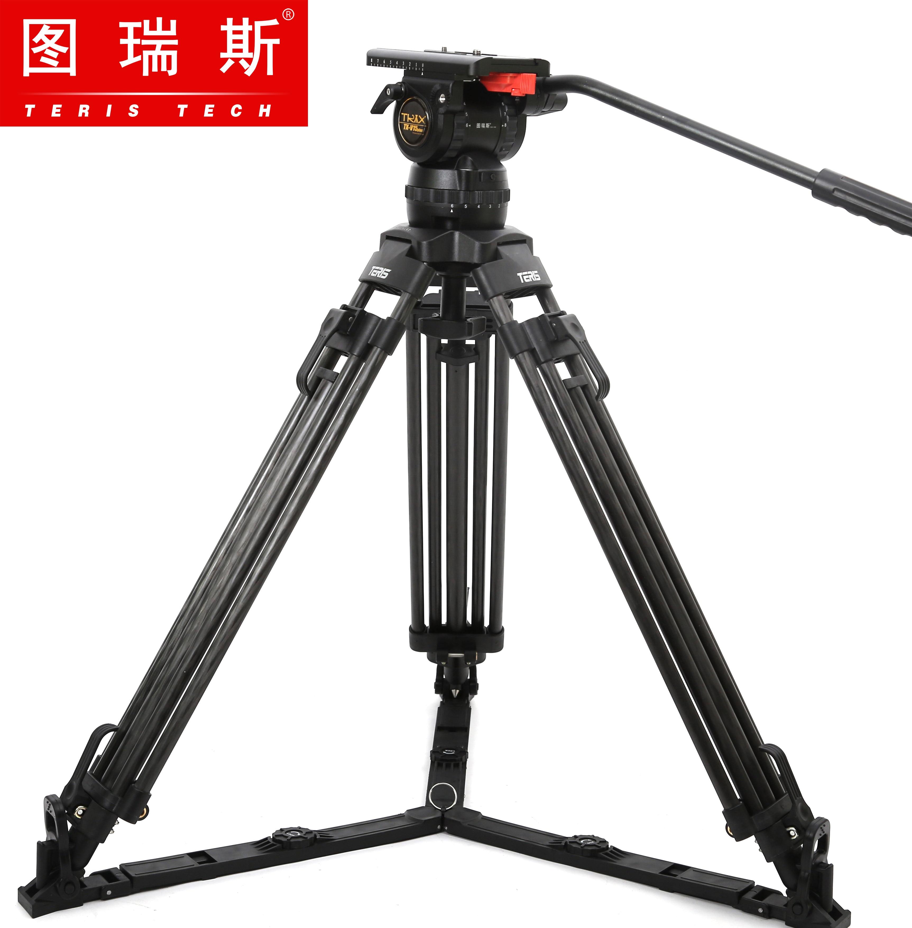 TERIS TX V15L Plus ขาตั้งกล้อง Professional อลูมิเนียม 100 มม.ขาตั้งกล้องหัวโหลด 15 กก.สำหรับ TILTA สีแดง DSMC2 กล้องกรง-ใน ขาตั้งกล้องถ่ายทอดสด จาก อุปกรณ์อิเล็กทรอนิกส์ บน AliExpress - 11.11_สิบเอ็ด สิบเอ็ดวันคนโสด 2