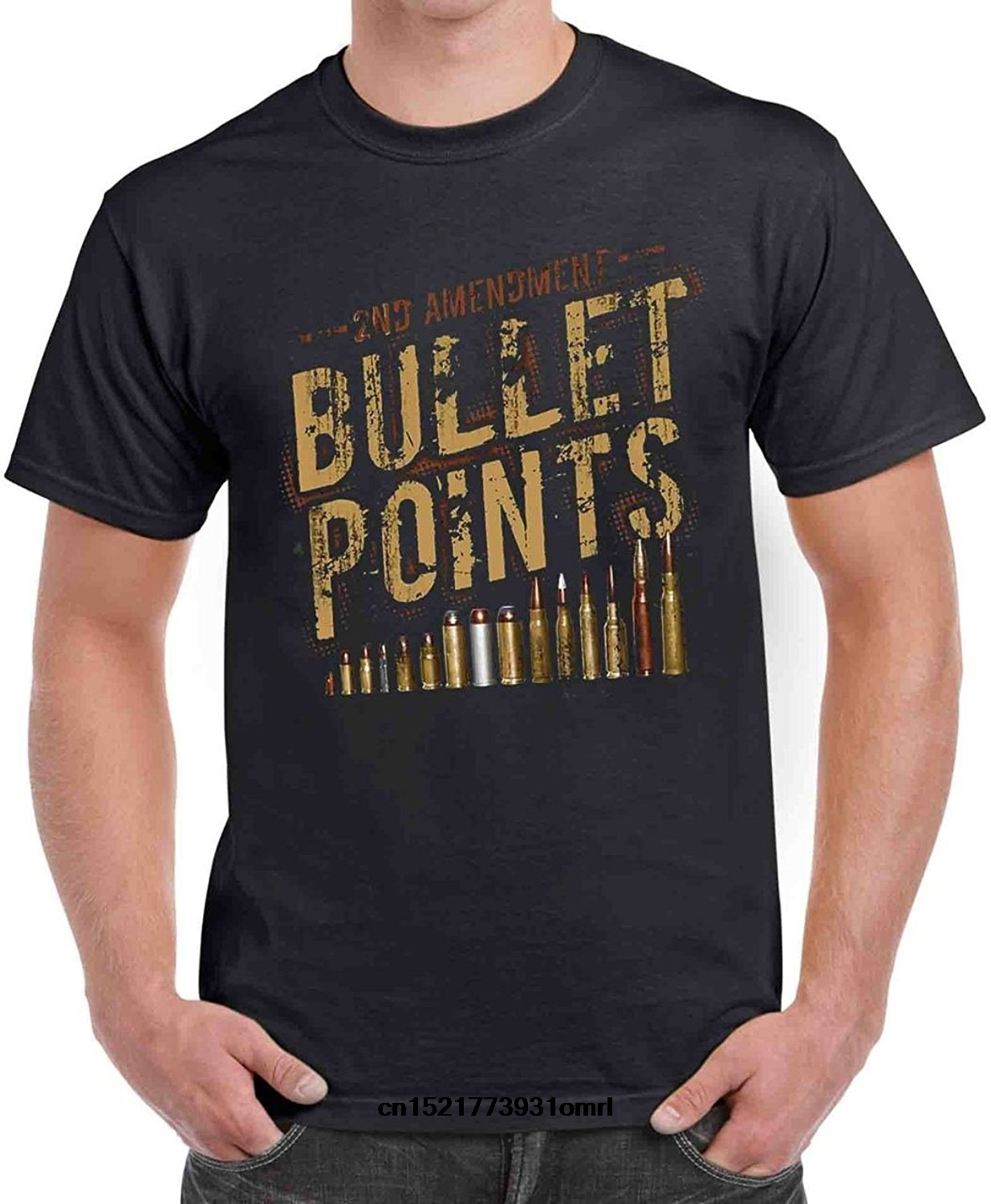 34b07987 Men T shirt 2nd Adt Bullet Points Tactical Gear Funny s funny t-shirt  novelty