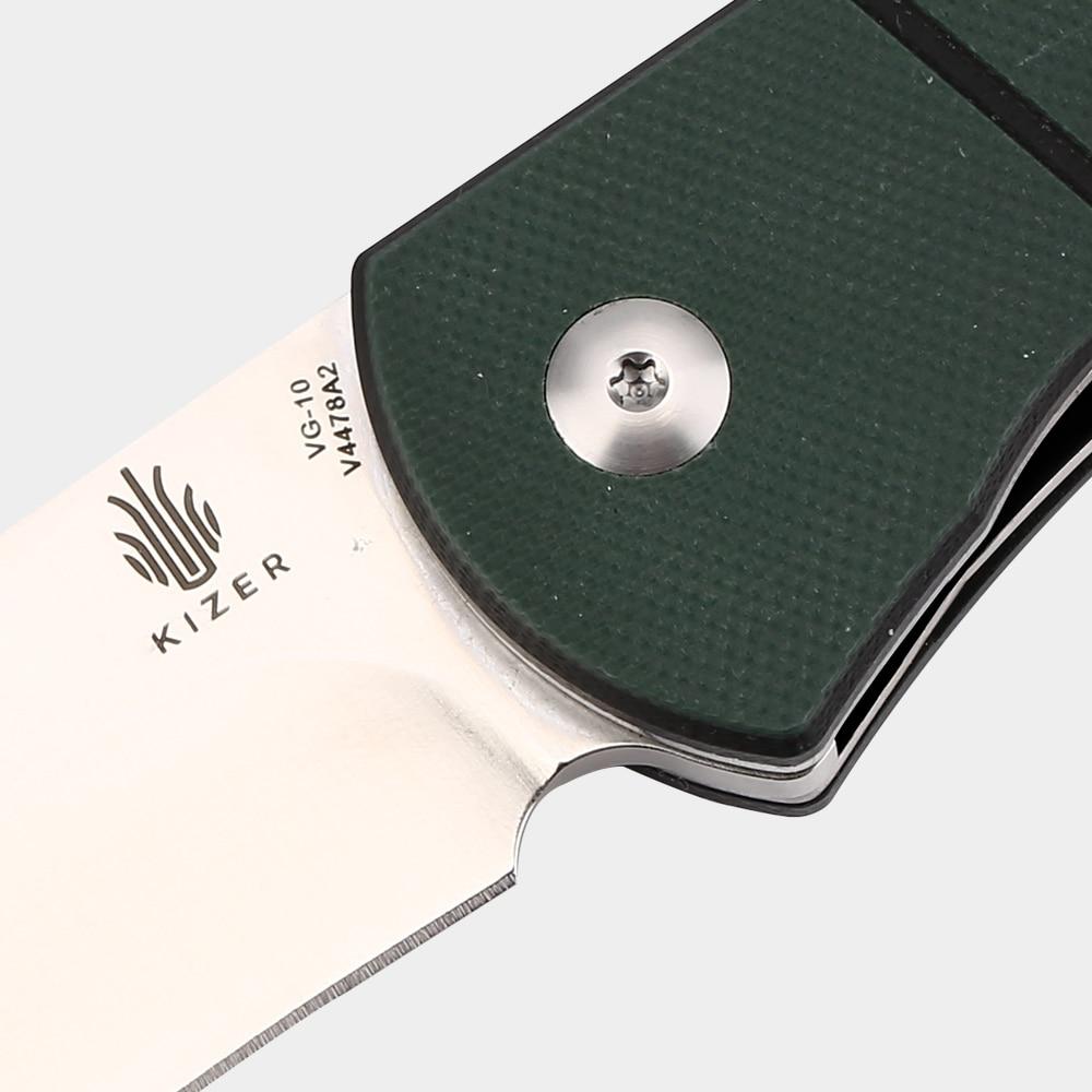 Купить с кэшбэком Kizer camping knife survival knife VG10 blade G10 handle knife folding blade knife outdoor hand tools V4478