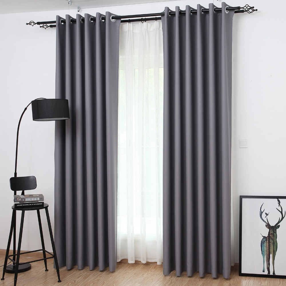 Blackout curtains for bedroom - Solid Color Blackout Curtain Panel For Living Room Window Bedroom Custom Size