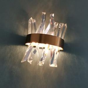 Image 2 - luxury design crystal wall lamp modern LED wall lights Dia25*H33cm lustre living room bedroom light