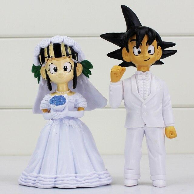 2Pcs/Set Dragon Ball Z Son Goku ChiChi Wedding PVC Action Figures 2 ...