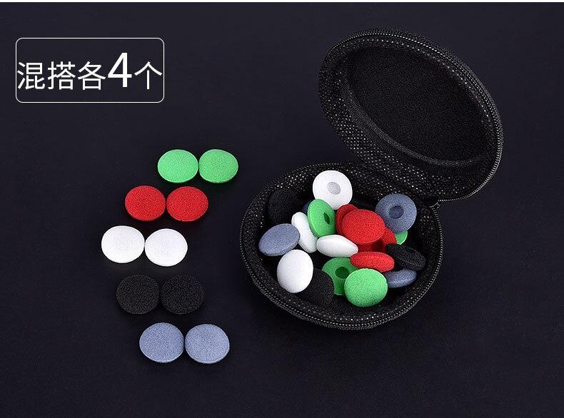 20pc/10 pairs.black 18 mm Soft foam ear pads ear headphones replacement sponge cushion covers tips for headphone MP3 MP4 Ear cap