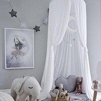 Детская палатка, шифоновая москитная сетка, летняя балдахин, занавеска для От 0 до 9 лет, детская кроватка, навес, украшение для дома, Милая пр...