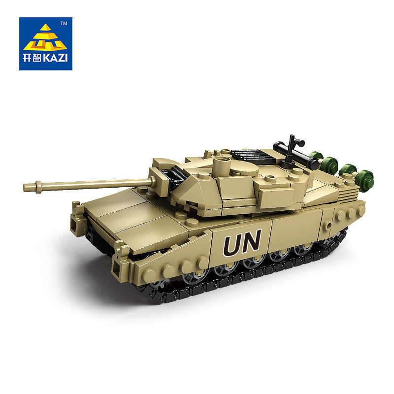 KAZI Military Model Block Tank ABS Building Block DIY Army Toys Kids Gift 4 Style Compatible with Lego Brick