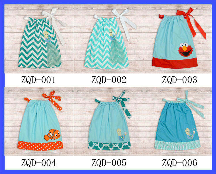 24pcs Lot Shoulder Straps Bow Girls Fish Simplicity Pillowcase Dress