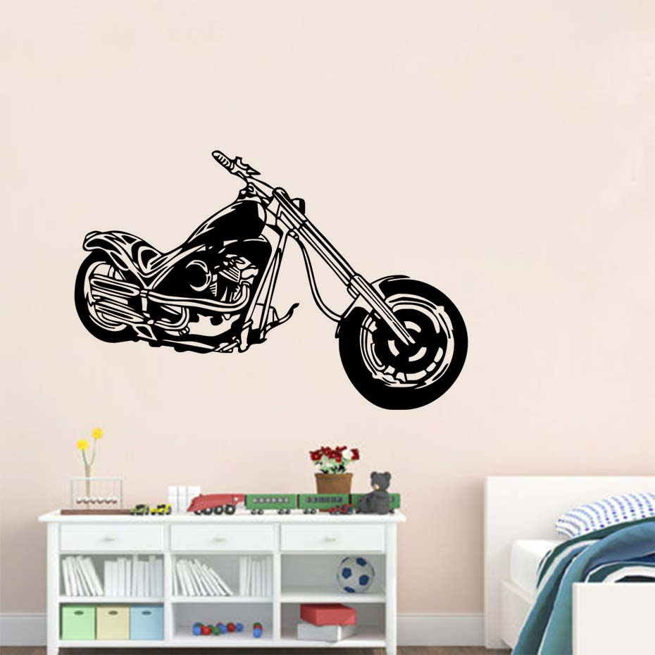 Retro Classic Motorcycle Machine Wall Stickers Diy Removable Vinyl - Classic motorcycle custom stickers