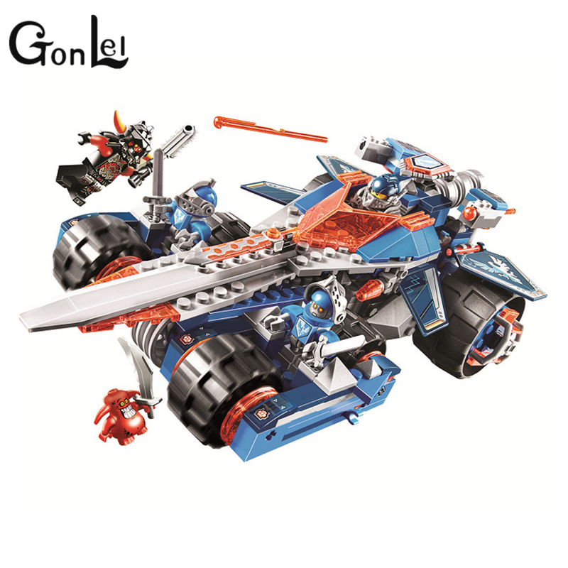 GonLeI Bela 10488 Clay's Rumble Blade building Blocks Bricks Toys Game Toys for children Castle Weapon Car Decool lepin 70315 rumble roses xx купить спб