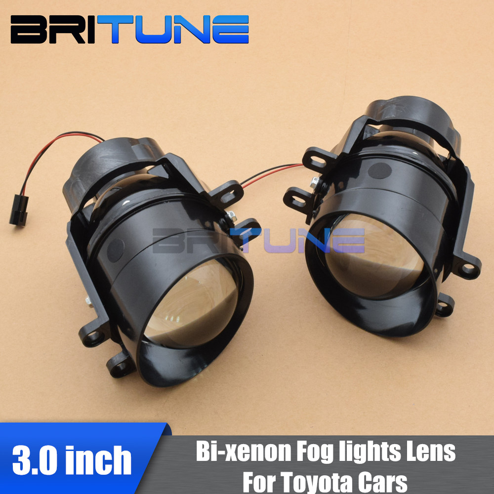3.0'' Waterproof Bi-xenon Fog Lights Lens Lamps Hi/Lo H11 HID Xenon For Toyota/Corolla/Camry/Lexus Cars Retrofit Replacement taochis auto 3 0 inch hid bi xenon projector lens fog light for toyota corolla camry rav 4 lexus vios prius highlander h11