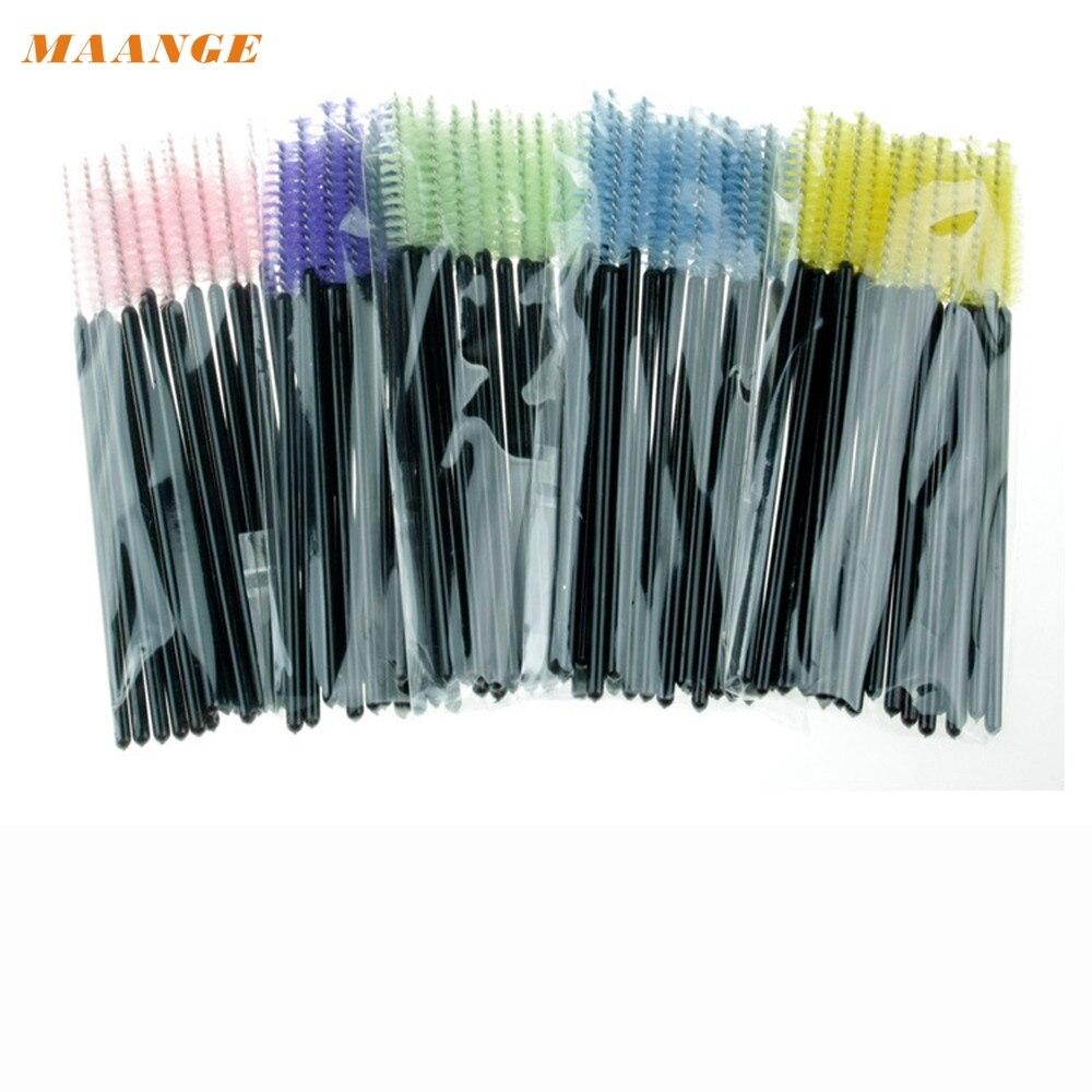 MAANGE 100 Pieces Multicolor Disposable Eyelash Mascara Brushes Makeup Brush Kit G6818