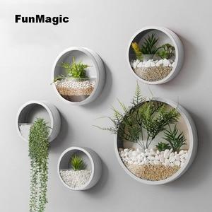 Image 3 - Jarrón de pared creativo de Metal, jarrón colgante de Color sólido para decoración del hogar, manualidades, soporte de flores artificiales, 3 unidades por lote