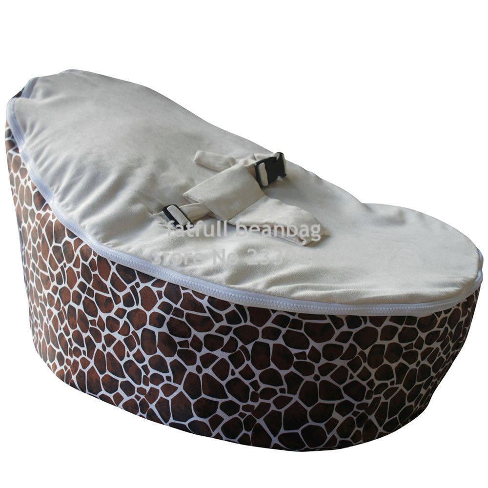 Cover Only No Fillings Inexpensive Zipper Baby Bean Bag