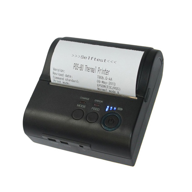 58mm mini portable bluetooth thermal printer Support Android and IOS High speed 5801 mobile printer supplies for sale