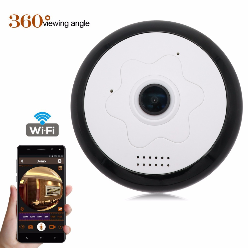 FGHGF 360 Degree Panoramic HD 960P Wifi IP Camera Security Surveillance System Home Monitor with IR Night Vision/2-Way Audio surveillance security hd 960p wifi ip camera baby monitor with 2 way audio night vision motion detection home mini 2mp ipcam