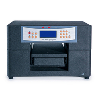 A4 digital metal label printer embossed effect photo uv printing machine for plastic