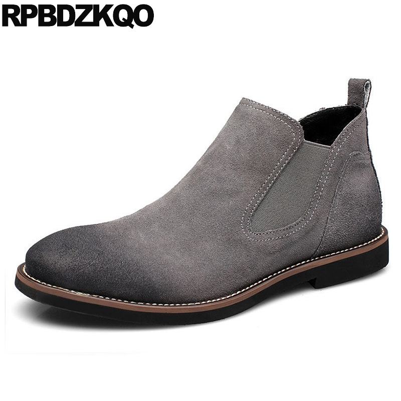 Fashion Footwear Ankle Retro Suede Casual Short Winter European Shoes 2017 Chelsea Mens Boots Warm Booties Comfortable High Top chilenxas autumn warm winter leather footwear shoes men casual new fashion ankle boots breathable light hard wearing anti odor