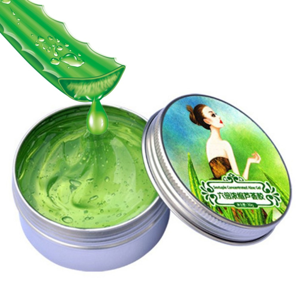 30g Nature Aloe Vera Gel Soothing Moisturizing Whitening Cream Anti-Acne Face Care Sextuple Condensed 2017 Hot Selling